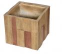 Květináč G21 Wood Cube 44x44x41cm
